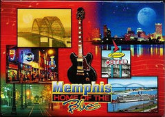 Memphis Magnet Home of The Blues Collage