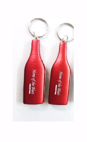 Memphis Key Chain Cork Screw Red