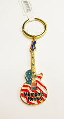 Memphis Key Chain Guitar Flag Rocks