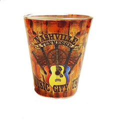 Nashville Shot Glass Wood Panel