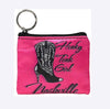 Nashville Key Chain Coin Purse Honky Tonk Girl