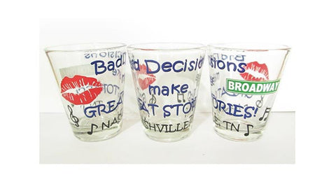Nashville Shot Glass Bad Decisions