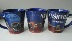 Nashville Latte Mug Night Skyline