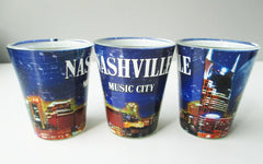 Nashville Shot Glass Night Skyline