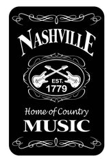 Nashville Playing Cards Blk & Wht Est.