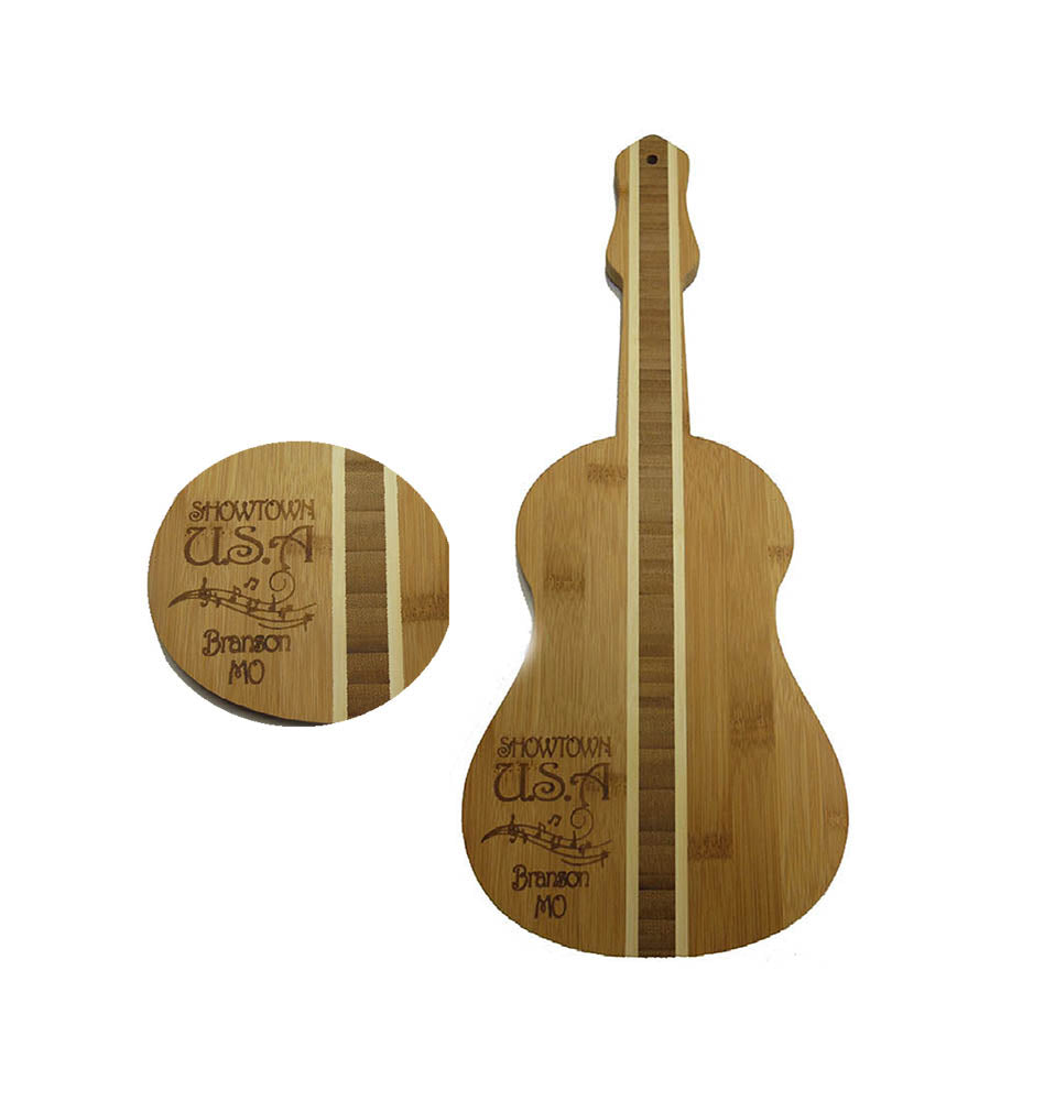 Branson Cutting Board  Wood Guitar Shape