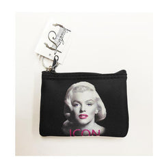 Marilyn Key Chain Coin Purse Icon Glitter