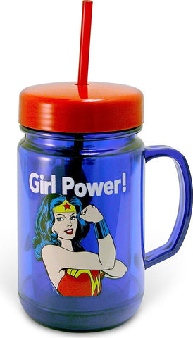 Wonder Woman Tumbler Mason Jar