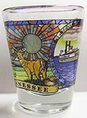 Tennessee Shot Glass Stained Glass