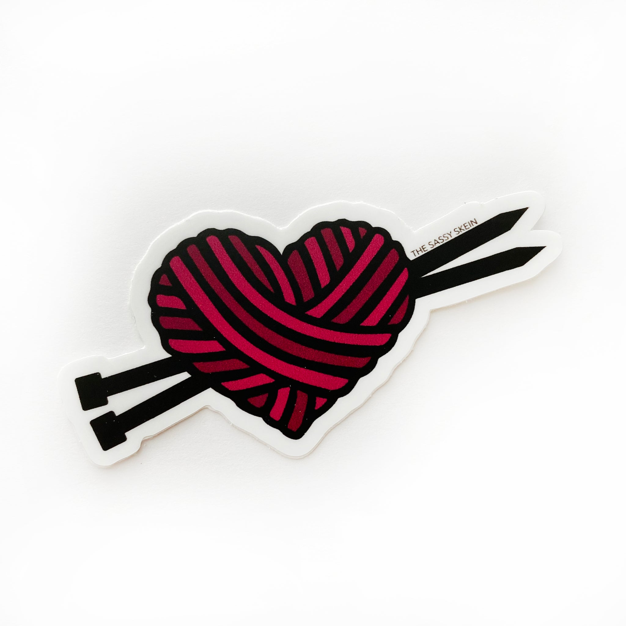 Yarn Heart Sticker