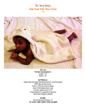 Baby Bear Bath Time Towel Pattern