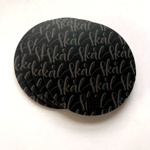 Coasters, black 4-pack