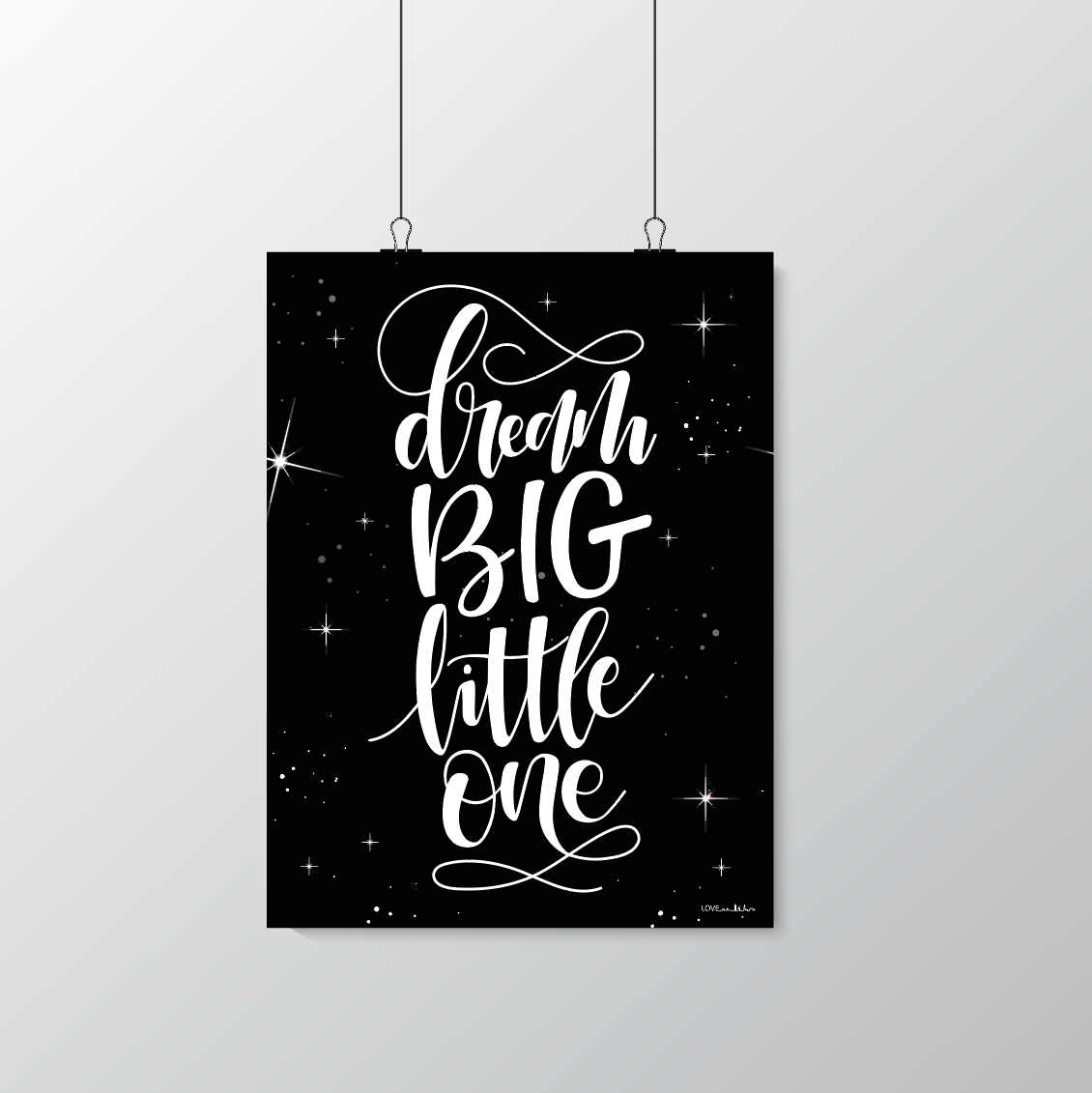 Dream BIG little one - black