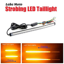 flowing led taillight cafe racer lake moto