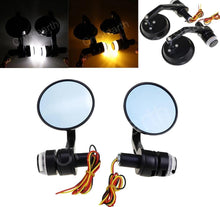 Cafe racer led mirrors