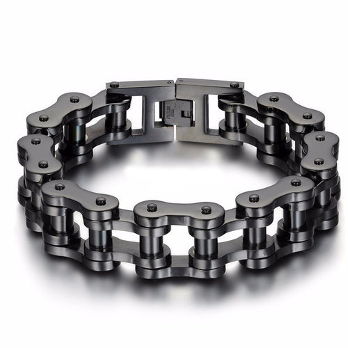 Motorcycle Chain Bracelet Extra Wide