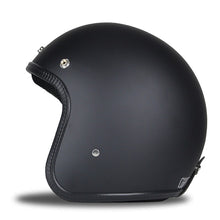 Retro Black Open Face Helmet