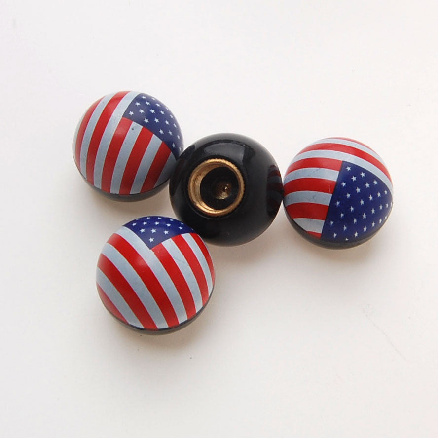 American flag valve stem caps