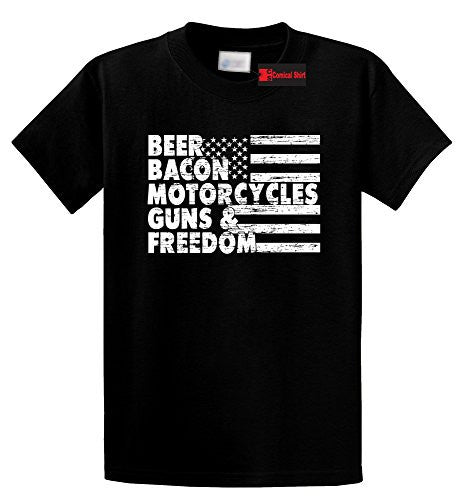Beer,bacon,motorcycles,guns and freedom tee