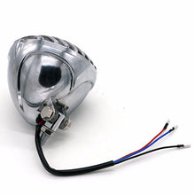 LED Headlight with Grill Guard Black or Chrome