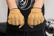Vintage Leather Riding Gloves