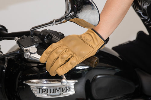 cafe racer riding gloves triumph parts