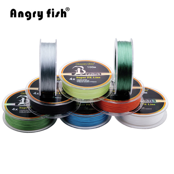 100m 4 x Braided Fishing Line 11 Colors Super Strong PE Line