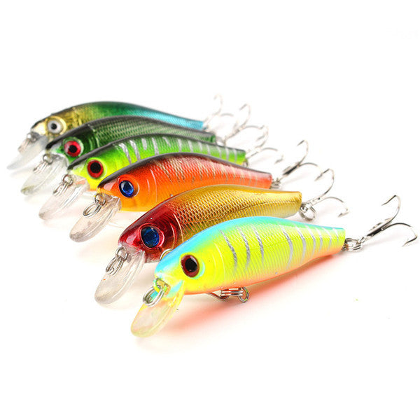 Fishing Lures (6 Pieces) - Gear & Gadgets