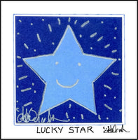 LUCKY STAR - Square Art Framed Print - art by debOrah