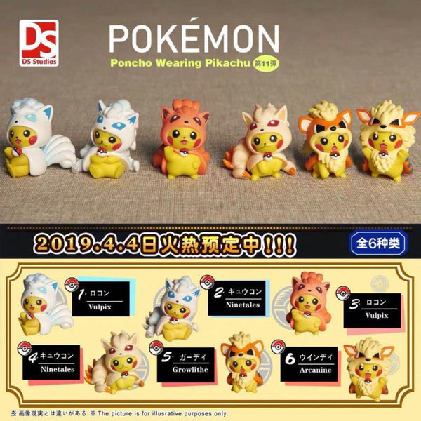 Poncho Cosplay Pikachu Mini Figure Series 11 - DS Studio (PREORDER)