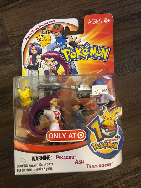 Pokemon Vintage Toys - Team Rocket & Ash & Pikachu