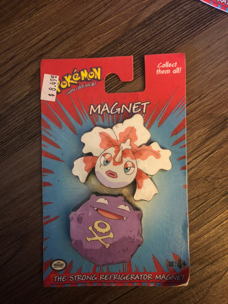 Pokemon Vintage Toys - Magnets Goldeen & Koffing