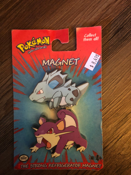 Pokemon Vintage Toys - Magnets Rattata & Nidorina