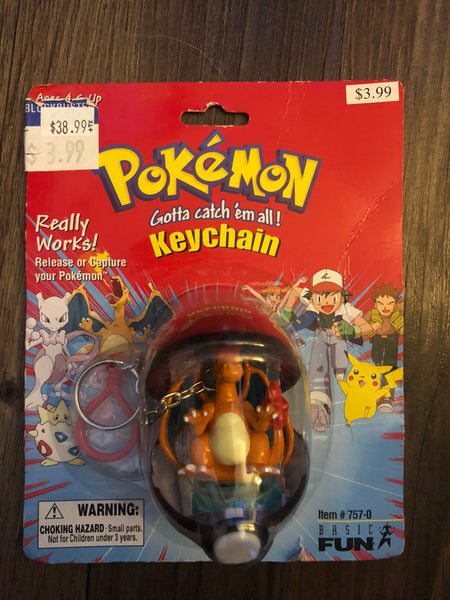 Pokemon Vintage Toys - Pokeball Keychain Charizard