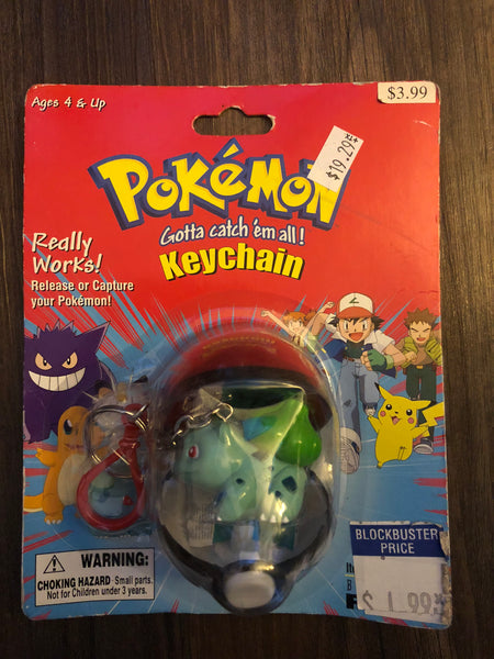 Pokemon Vintage Toys - Pokeball Keychain Bulbasaur