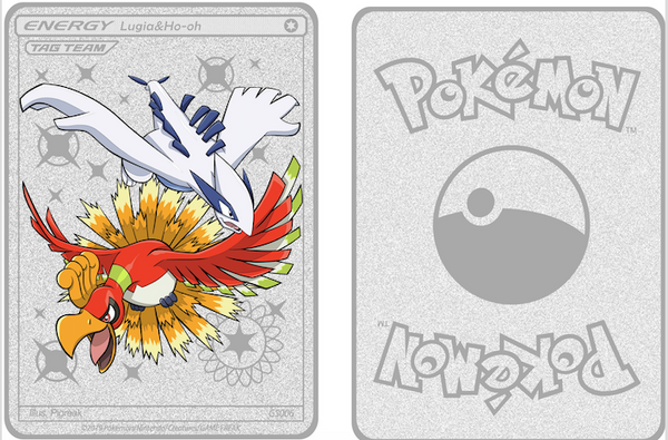 Custom Lugia & Ho-Oh Tag Team Metallic Card