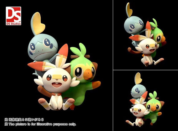 Gen 8 Starters Grookey Scorbunny Sobble - Pokemon Mini Figure - IN STOCK
