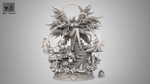 Angewomon Digivolution - Digimon Resin Statue - PREORDER
