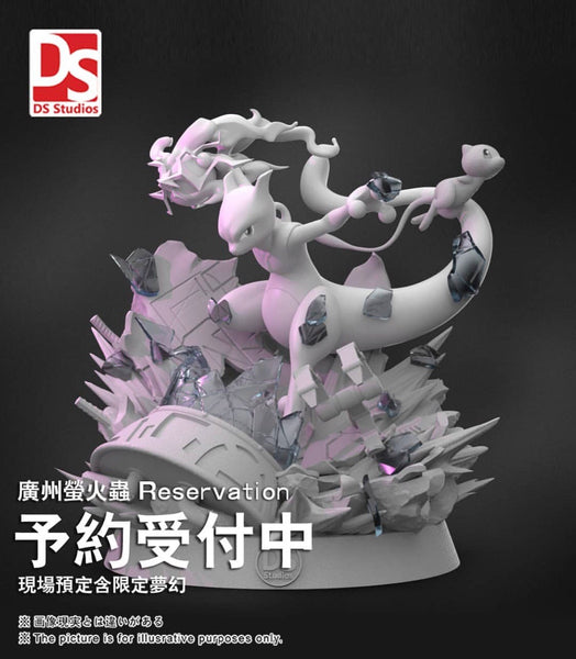 Rocket's Mewtwo - Pokemon Resin Statue - DS (PREORDER)