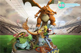 Ash Team (Charizard Blastoise Venusaur) - Pokemon Resin Statue - GD Studio (PREORDER)