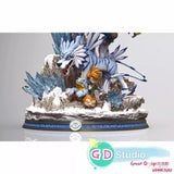 Digimon Resin Statue - GD Studio - Garurumon Digivolution (PREORDER)
