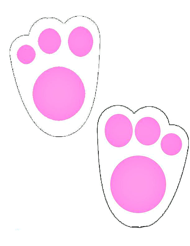 image about Printable Easter Bunny Footprints known as Bunny Music Printable for Easter
