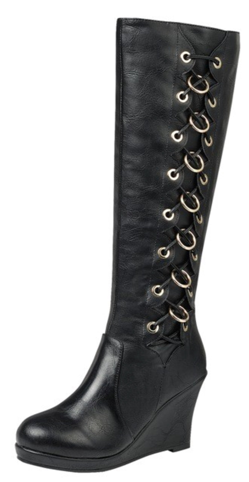 Wedge Knee High Boots