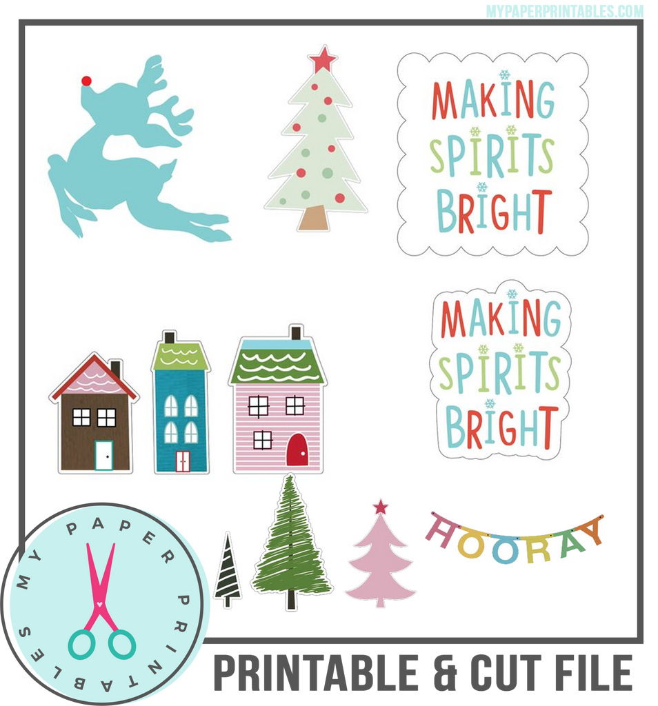 Christmas Illustrations Cut Files