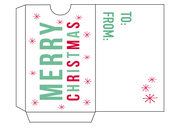 Christmas Gift Card Holder Set 2 Cut File