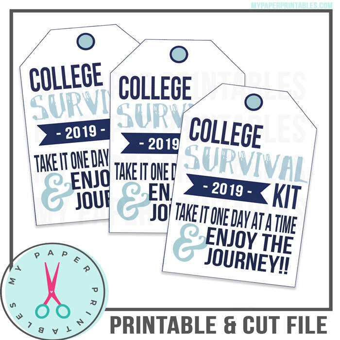 Graduation Tag Blue