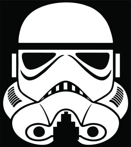 Stormtrooper sticker decal star wars empire car tablet window