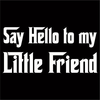 Say Hello To My Little Friend Decal Sticker Choose Size Color