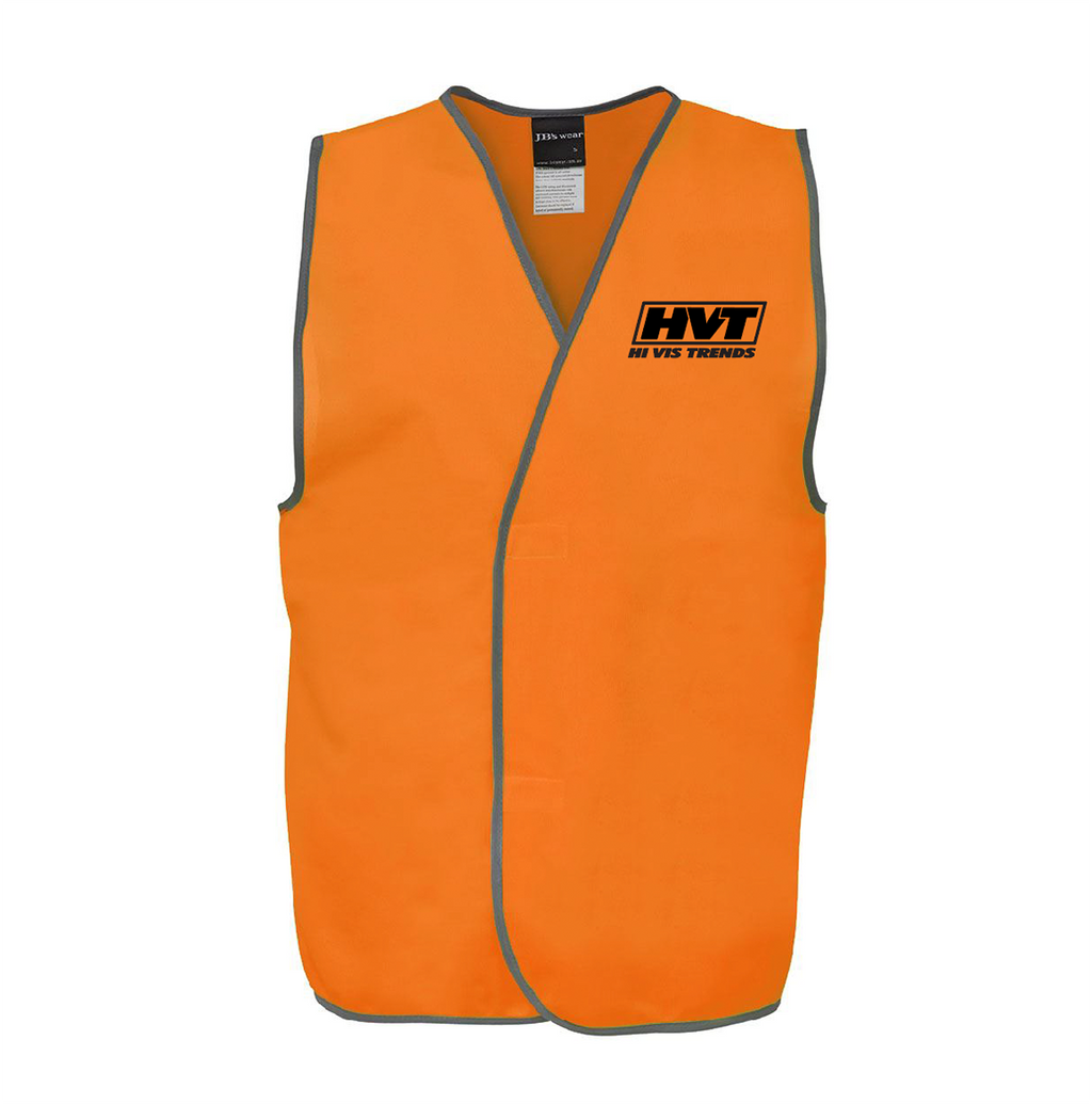 Hi Vis Adult Vest-HVT LOGO - Orange