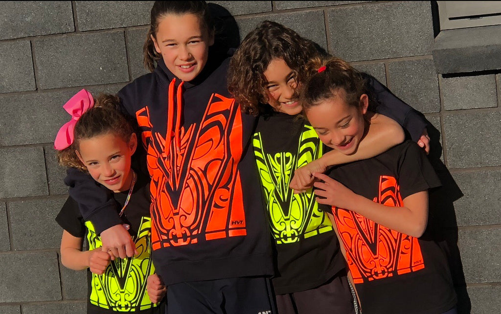 Kids T-Shirts- Black/ Hi Vis Orange - Hi-Vis-Trends